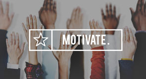 Motivate Aspiration Goal Encourage Inspiration Expectations Conc Royalty Free Stock Photos
