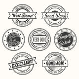 Motivate Badges Set Royalty Free Stock Photos