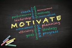 Motivate concept written with chalk on blackboard Royalty Free Stock Photography