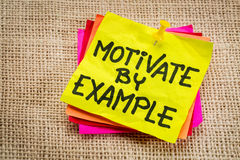 Motivate by example note Royalty Free Stock Photography