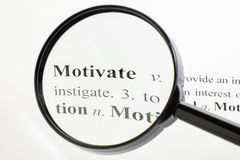 Motivate Magnified Stock Photography