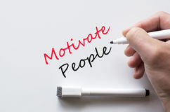 Motivate people written on whiteboard Royalty Free Stock Photography
