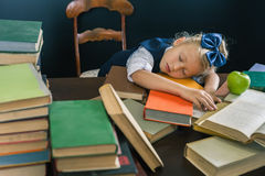 Motivate your child to study a boring subject Royalty Free Stock Photos