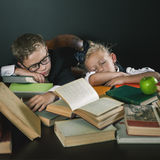Motivate your child to study a boring subject Stock Image