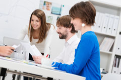 Motivated business team having a meeting Stock Images