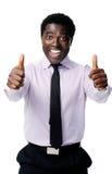 Motivated businessman Royalty Free Stock Photos