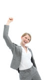 Motivated enthusiastic woman Stock Images