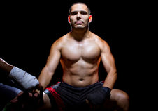 Motivated Latin Fighter Royalty Free Stock Images