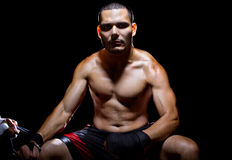 Motivated Latin Fighter Stock Image