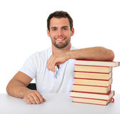 Motivated male student Royalty Free Stock Photos