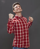 Motivated male teenager expressing violent disappointment Royalty Free Stock Images