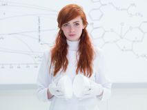 Motivated student in chemistry lab Stock Photography