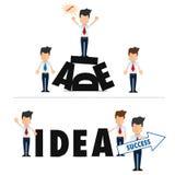 Motivatie bedrijfsaffiche, super kwaliteits abstracte bedrijfsaffiche vector illustratie