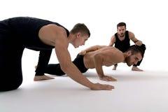 Motivating man doing push ups. Strength and motivation. Motivating men doing push ups. Strength and motivation. motivation Stock Images