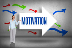 Motivation against arrows pointing Royalty Free Stock Photography