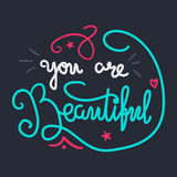 Motivation and Beauty Lettering Concept Royalty Free Stock Images
