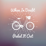 Motivation bike concept poster Royalty Free Stock Images