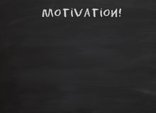 Motivation on blackboard Royalty Free Stock Image