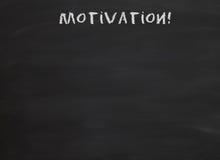 Motivation on blackboard Royalty Free Stock Image