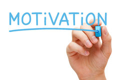Motivation Blue Marker Stock Photo