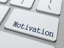 Motivation - Button of Computer Keyboard. Motivation - Button of Modern White Computer Keyboard royalty free illustration