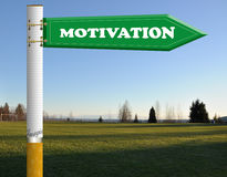 Motivation cigarette road sign Royalty Free Stock Photo