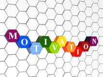 Motivation, colour hexahedrons, cellular structure Stock Photos