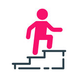 Motivation concept chart icon business strategy development design and management leadership teamwork growth career idea. Motivation concept career ladder chart Stock Photo