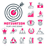 Motivation concept chart pink icon business strategy development design and management leadership teamwork growth Royalty Free Stock Photos