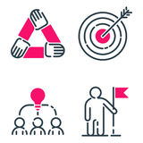 Motivation concept chart pink icon business strategy development design and management leadership teamwork growth. Motivation concept chart pink icon business Stock Images