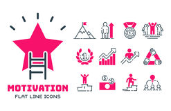 Motivation concept chart pink icon business strategy development design and management leadership teamwork growth. Motivation concept chart pink icon business Royalty Free Stock Images