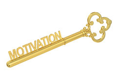 Motivation concept with golden key, 3D rendering Royalty Free Stock Photography