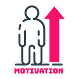 Motivation concept human chart icon business strategy development design and management leadership teamwork career idea Royalty Free Stock Image