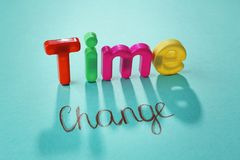 Motivation concept. Phrase TIME CHANGE Stock Photo