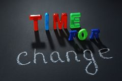 Motivation concept. Phrase TIME FOR CHANGE Royalty Free Stock Image