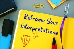 Motivation concept about Reframe Your Interpretations with phrase on the page