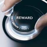Motivation Concept Reward Program With High Return stock image