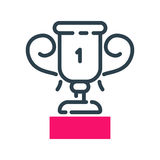 Motivation concept winner cup icon business strategy development design and management leadership career idea creativity Stock Photography