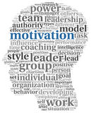 Motivation concept in word tag cloud Royalty Free Stock Image