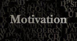 Motivation - 3D rendered metallic typeset headline illustration Stock Photos