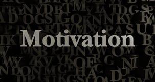 Motivation - 3D rendered metallic typeset headline illustration Royalty Free Stock Images