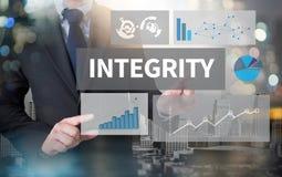 Motivation de morale de fidélité d'éthique d'INTÉGRITÉ Image stock