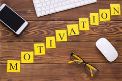 Motivation diagonal inscription royalty free stock photography