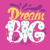 Motivation and Dream Lettering Concept Royalty Free Stock Photo