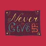 Motivation and Dream Lettering Concept Stock Images
