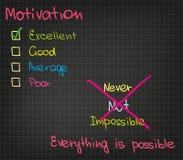 Motivation_Everything est possible Photo libre de droits