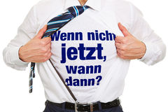 Motivation in German for business success Stock Image