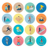 Motivation Icon Flat Royalty Free Stock Photography