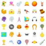 Motivation icons set, cartoon style. Motivation icons set. Cartoon set of 36 motivation vector icons for web isolated on white background Royalty Free Stock Photos