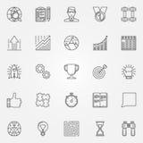 Motivation icons set Stock Photos
